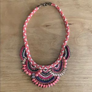 Jewelry - Pink Beaded Collar Necklace